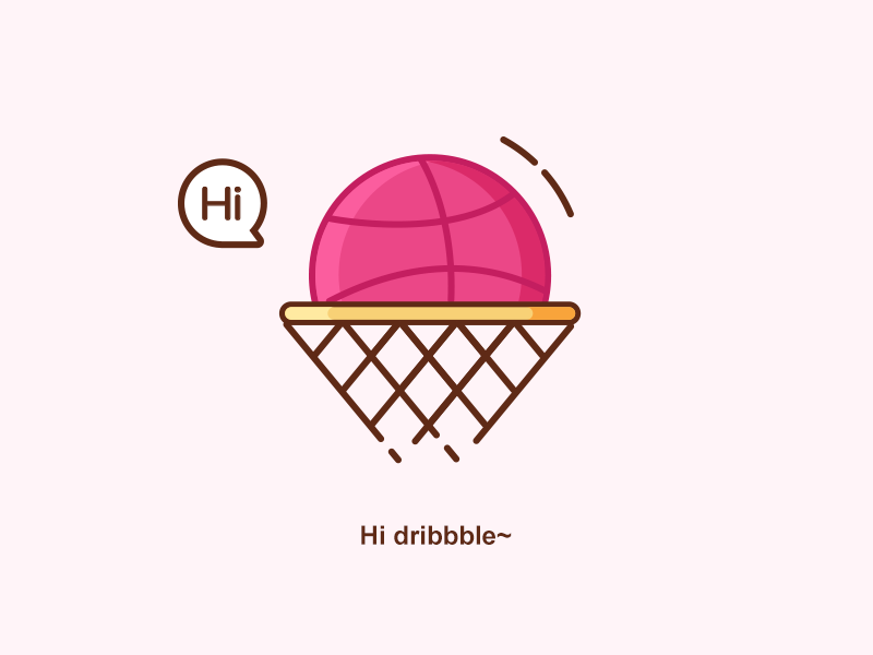 Hi Dribble outline icon