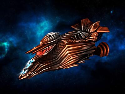 Futuristic Spaceship sketches digital art graphics game design