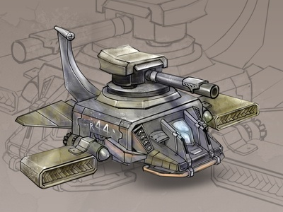 Futuristic Weapons sketches digital art graphics game design