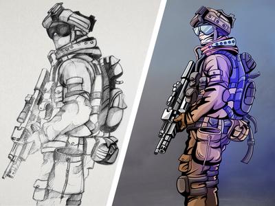 Soldier Digital Art