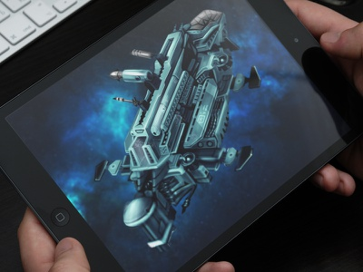 Spaceship Digital Art sketches digital art graphics game design