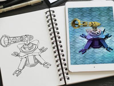 Futuristic Weapons Digital Art