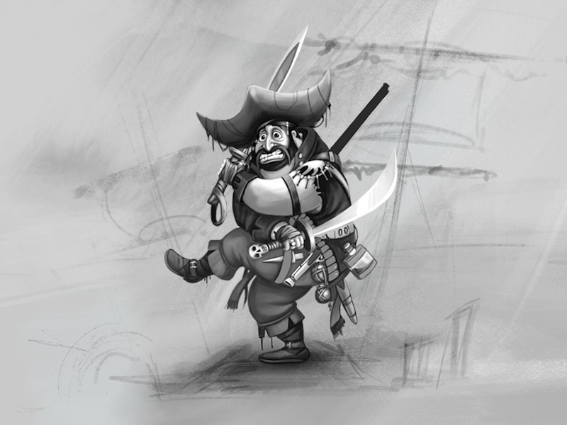 Pirate Character sketches digital art graphics characterisation character design