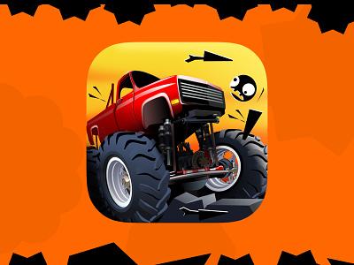 Hell Escape Racing ux app icon ui digital art graphics game design