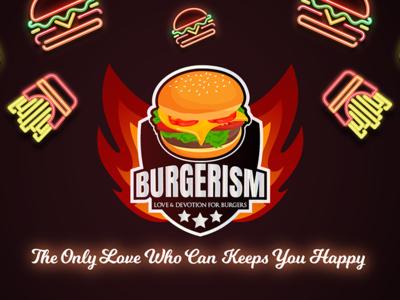 Logo And Facebook Cover Design For A Burger Shop