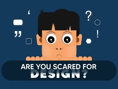 Scared Character graphics 2d elements icons scared character face design