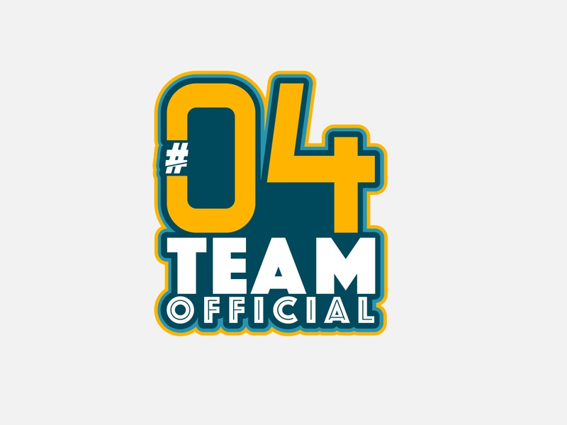 #04TeamOfficial colors illustration graphics team logo official team