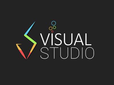 Visual Studio branding concept simple lgog visual studio illustration vector logo design