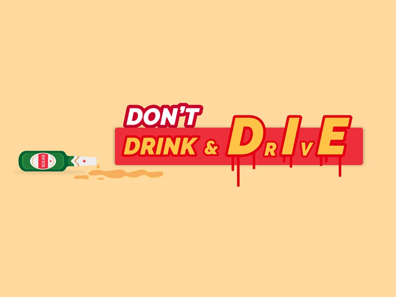 Don't Drink and Drive typography colors save life drink  drive illustration vector graphic
