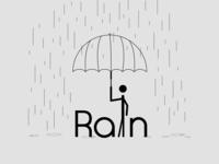 Rain Falling Simple illustration