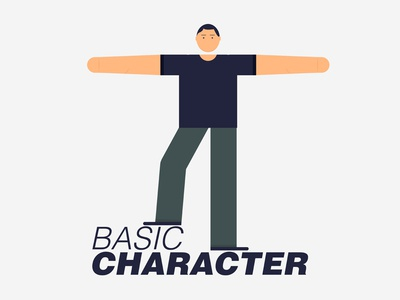 Basic Character text t-pose colors basic shapes face illustrator character basic