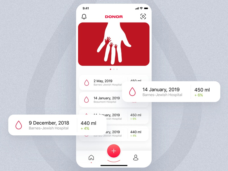 Donor App Concept by Maxim Shishkin for SOLVVE on Dribbble