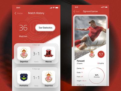 Football Club App mobile ios app simple clean ux ui football club football football app