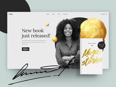 Book promotion landing page life coach writter author wordpress ui  ux one page template one page site small business web design website landing page promoton book