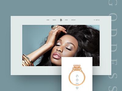 Jewellery Landing Page brand luxury brand clean elegant custom handmade web design gold jewellery small business wordpress ui  ux one page site landing page