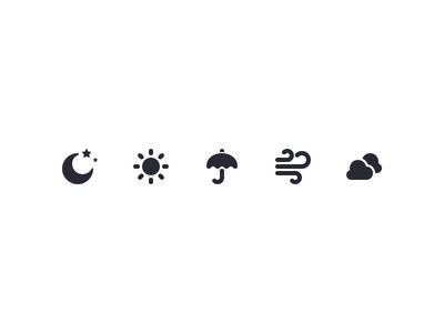 Iconography Set III sun weather palette icon set icons designs free download asset