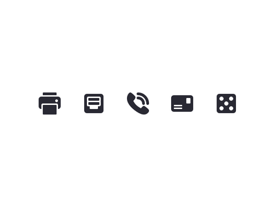 Iconography Set Iv phone print palette icon set icons free download designs asset