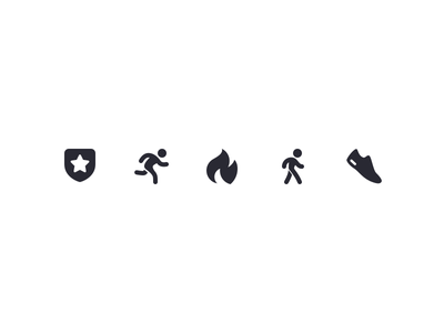 Iconography Set VIII black sport run fire fitness icon set icons free download asset  designs