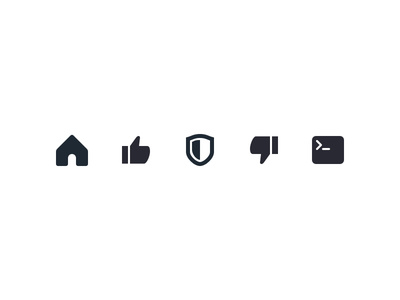 Iconography Set IX shield terminal dev icon set icons free like download black asset