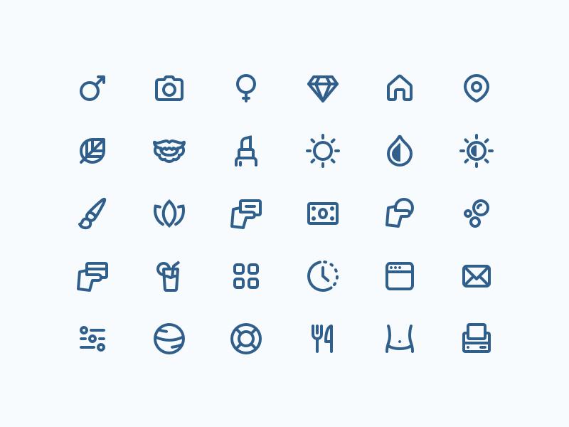 Wavy icons   blue