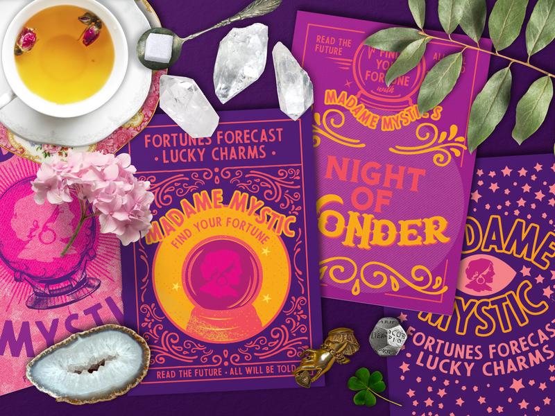 Halloween 2018 : The Fortune Teller illustration typography design halloween printable