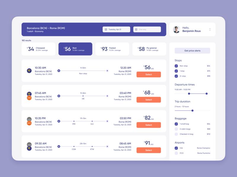 Online Travel Agency Platform product interface platform design web zajno