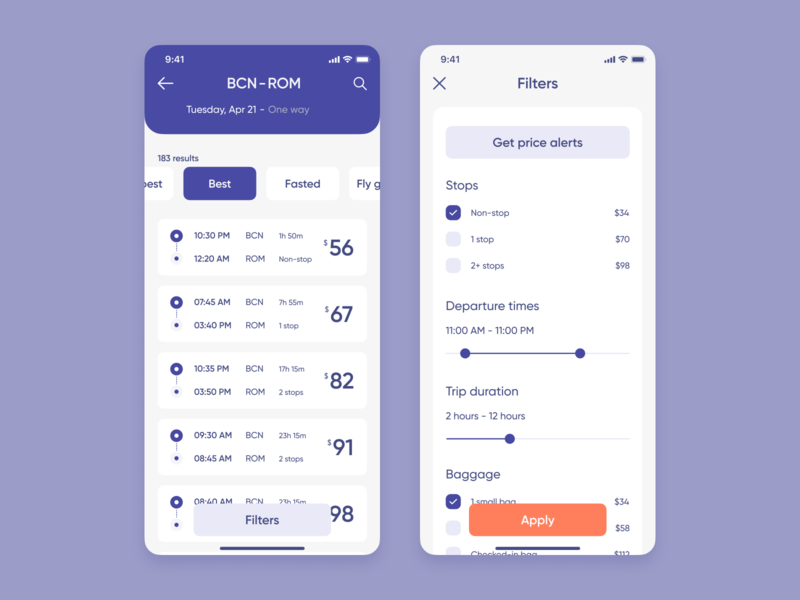 Online Travel Agency Mobile App product interface app design mobile zajno