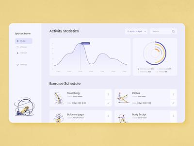 Sport at Home Web App concept illustration product interface app web zajno