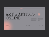 Website Online Museums and Exhibitions typography ux promo website ui interface design