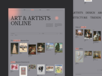 Website Online Museums promo typography website ux ui interface design