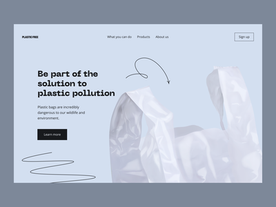 Plastic Free Educational Website Design design typography web concept homepage hero shot accent line clean minimal trendy colors plastic free environment educational website web design website landing page zajno