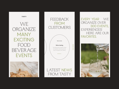 Responsive Website for Tasting Events feedback photography responsive testing mobile event web design minimalistic website clean web concept typography design interface
