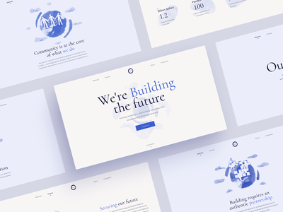 Storytelling Website for BlueIO light screen storytelling future eco investment illustration interface typography web ux ui clean design minimal web design website zajno