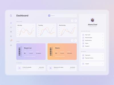Sports Life Dashboard product fireart studio app sports design minimal ux clean ui interface