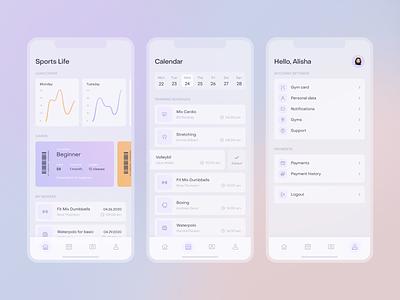 Sports Life Mobile App minimal sport app fireart studio mobile clean ux ui design interface