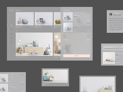 Furniture Shop Dashboard furniture fireart studio minimal app ux ui web clean design interface