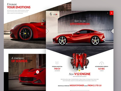 Ferrari 152M website proposal