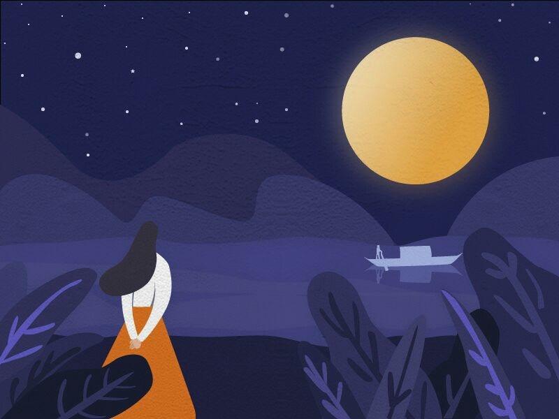 A happy Mid-Autumn festival illustration