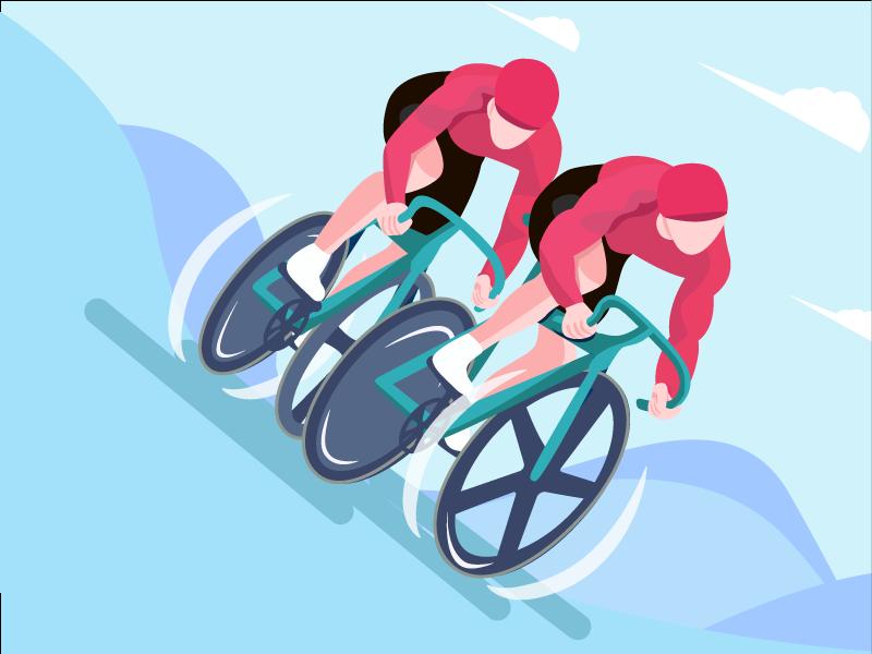 Ride  bike illustration