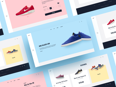 Nike Store dribbble menu store nike page product screen onboarding application app ecommerce listing dashboard button ux icon minimal card ui design