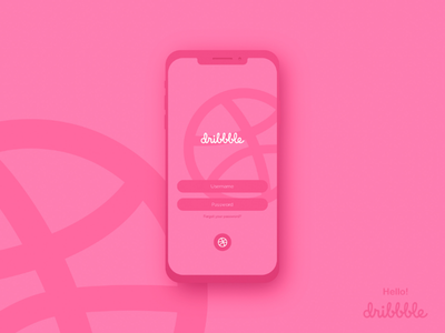 Hello dribbble hello dribble ui design login