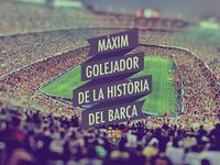 Messi Maxim Golejador de la Historia del Barça