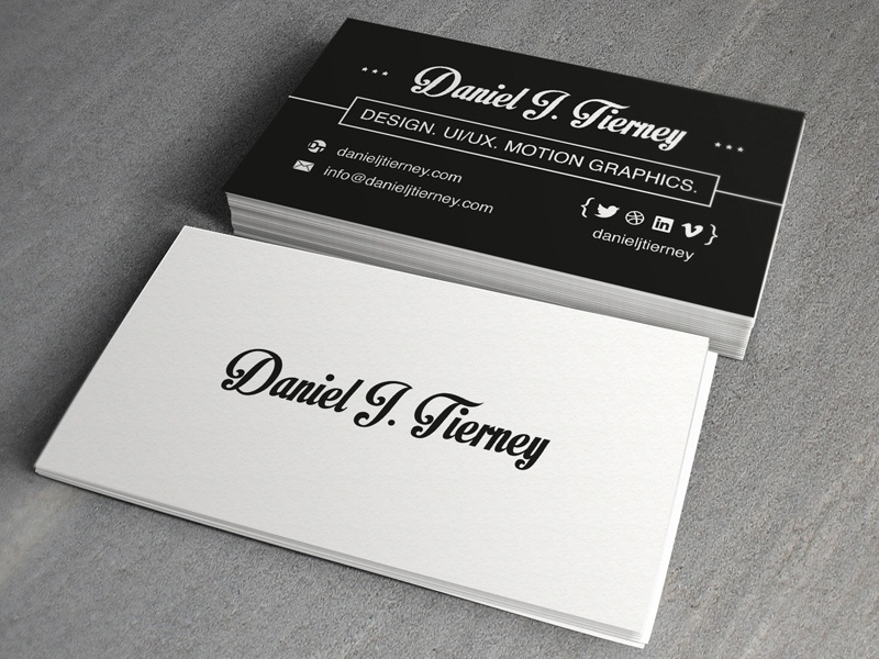 Personal Business Card business card graphic design vintage
