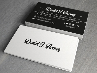 Personal Business Card by Daniel Tierney - Dribbble
