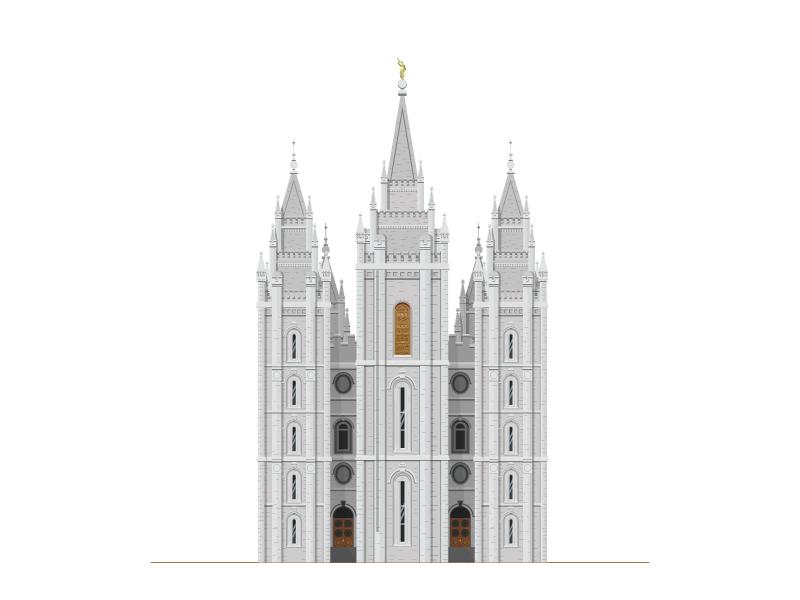 Salt Lake Temple temple salt lake temple illustration architecture building lds salt lake city religion church beautiful