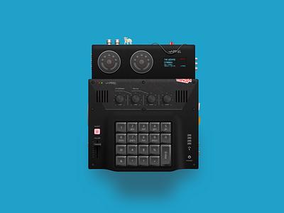 Panel Mx1200 01 sketchapp illustration beepboop computer electronics