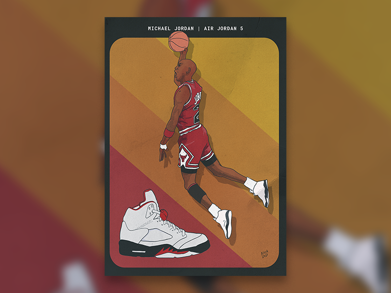 new style c0fe6 af6ce Air Jordan 5 poster by Nick Jarvis on Dribbble