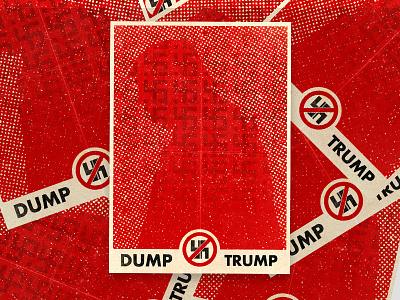 Dump Trump Propaganda Poster illustration propaganda poster nazi trump