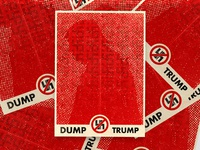 Dump Trump Propaganda Poster
