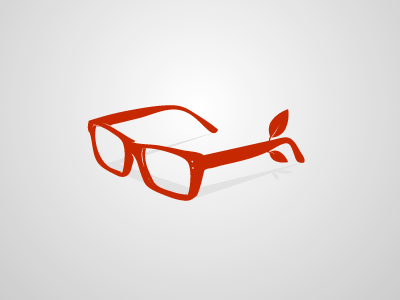 Wooden Glasses  logo nerd red proof nature glasses